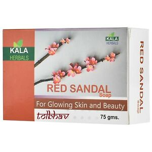 Red Sandal Soap For Glowing Skin  100% Ayurvedic And Herbal
