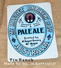 vintage MT MAGNET BREWERY tin metal SIGN new Western Australia BEER outback pub