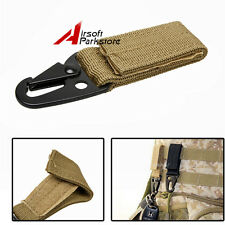 Tactical QD Buckle w/Metal Hook for Tactical Molle Backpack Vest Belt Keychain