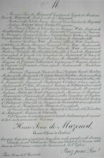 HENRI JEAN MAZENOD Tonnac Villeneuve FAIRE PART Hue Maricourt Maulde 1899