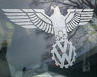 1 x EAGLE WINGS ETCHED GLASS VW VOLKSWAGEN STICKER DECAL LOGO GRAPHIC MOD BUS
