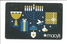 Macy's Happy Hanukkah Menorah Gift Card No $ Value Collectible