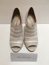 Camilla Skovgaard Cream Leather Peep Toe Heels