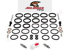 Front Brake Caliper Seals Pins Nipples Rebuild Kit Set x 2  for Kawasaki ZX7R P