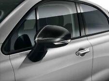 FIAT 500X PORTA ALA SPECCHIO copre sostegno CAPS Autentico Nero Carbonio 50927547
