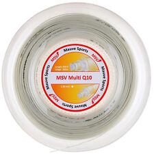 MSV Multi Q 10 - 200 Meter Rolle + 17 Besaitungsaufkleber- Tennissaite