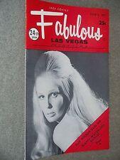 Fabulous Las Vegas Magazine Slappy White Lana Cantrell Sandra Sandefur 6/5/1971