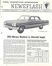 1963 Mercury Monterey vs Chevrolet Impala Brochure wn5043-A7O5UY