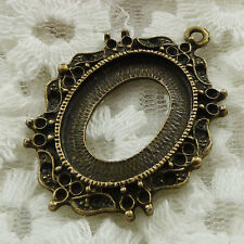 Free Ship 15 pieces bronze plated frame pendant 40x28mm #854