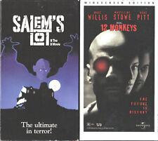 Salem's Lot: The Movie (VHS, 1993) & 12 Monkeys - 2 VHS
