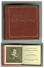 DDR GDR MINI LIBRO Carl Maria von Weber musica Verlag Leipzig 1986