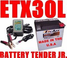 Deka 400CCA AGM Battery Harley FLH/T Touring Battery Tender Jr INCLUDED!