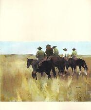 "1970 Vintage SOUTHWEST Full Color Art Plate ""START o/t ROUNDUP"" McIntyre Litho"