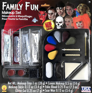 Vampire Day of The Dead Zombie Pirate Crown Family Fun Womens Mens Makeup Kit