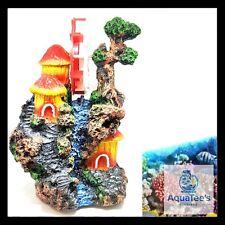 ARMADA AQUARIUM FISH TANK DECORATION BARREL WHEEL TREE 23CM ORNAMENT AQUA WATER