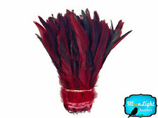 1/2 Yard - RED Half Bronze Coque Tail Strung Wholesale feathers (bulk)