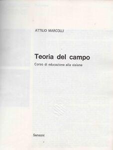 MARCOLLI Attilio, Teoria del campo. Corso di educazione alla visione