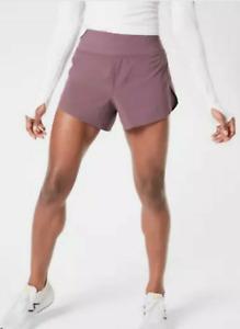"Athleta Run With It 3.5"" Short Running Shorts Volcanic Violet NWT $59 L Large"