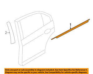 Lincoln FORD OEM Rear Window/Door-Belt Molding Weatherstrip Right 7H6Z5425596A