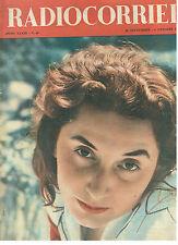 RADIOCORRIERE TV 30 SETTEMBRE 6 OTTOBRE 1956 ANNO XXXIII N. 40 GIOVANNA FERRARA