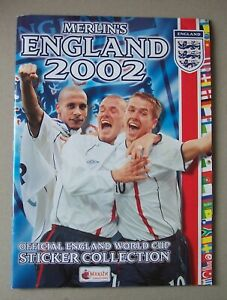 Merlin's Official England 2002 World Cup Football Sticker Album with Wall Chart