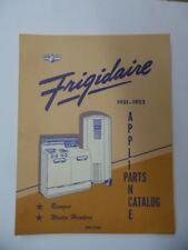 1951-52 FRIGIDAIRE Appliance Parts Catalog SER-320E Ranges Water Heaters Vintage