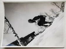 New listing Vintage snapshot photo: Full speed downhill skiing around 1940   Fo.301