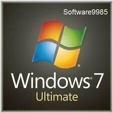 ORIGINAL WINDOWS 7 ULTIMATE 32 / 64BIT  GENUINE LICENSE KEY SCRAP PC