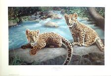 """Charles Fracé """"Messengers of Hope"""" Amur leopard kittens LTD ED S/N  folder & COA"""
