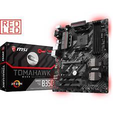 MSI B350 Tomahawk AMD Ryzen 7 Socket AM4 ATX Motherboard M.2 USB Type C Red LED