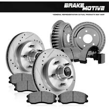For Chevy Express Suburban Front and Rear Brake Rotors Ceramic Pads Drums Shoes