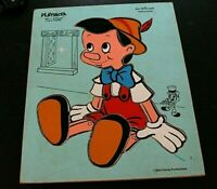 Vintage Playskool Disney Puzzle Pinocchio 190-7 Wooden Eight Pieces  -J )
