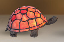 Stained Glass Top Quality Orange Turtle Tortoise Tiffany Table Lamp 23cm Length