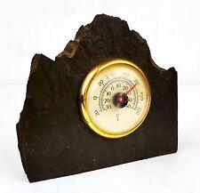 Vintage Table Thermometer - Delabole Cornish Slate Standing Desktop Paperweight