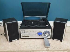 Grundig Turntable *Extremely Rare* GURPA3 CD MP3 Radio USB Speakers + Remote