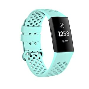 For Fitbit Charge 3 4 S L WristBand Watch Strap Replacement Silicone Sport Men
