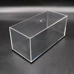 Model Car Acrylic Case Display Box Show Transparent Dust Proof with Base 18CM