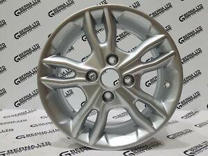 "GENUINE Ford Fiesta MK7 & MK8 2008-2020 15"" Twin 5 Spoke SILVER Alloy Wheel RIM"