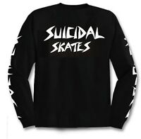 "DOGTOWN ""Suicidal Skates"" Skateboard Long Sleeve T-Shirt  BLACK S M L XL LST"