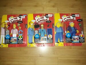 The Simpsons All-Star Voices Series 1 Set of 3 Troy McClure Herb Powell Fat Tony