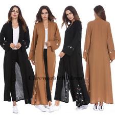 New Women Chiffon Open Front Abaya Muslim Islamic Maxi Kaftan Jilbab Robe Dress