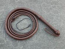 environ 1.83 m long 08 Tressé en Cuir Véritable Bull Whip Heavy Duty marron foncé 6 FT