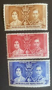 BECHUANALAND   1937 Coronation George VI & Queen Elizabeth KGVI. Mint Hinged