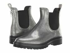 New Michael Kors Size 6 Tipton Rain Bootie Boots Gunmetal Silver Glitter