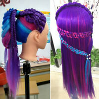 Professional training heads with long thick hair practice Hairdressing mannequQA