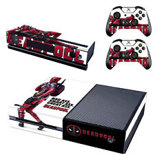 Xbox ONE Skin Sticker Vinyl Decal for Console & 2 Controllers Deadpool