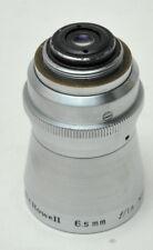 BELL & HOWELL  6.5MM F1.9  -  8 mm Movie lens