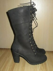 Womens TIMBERLAND Ortholite Black Nubuck Zip Boots EU 38 / UK 5 WORN ONCE!