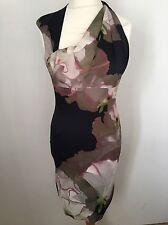 KAREN MILLEN Amazing Blossom Floral Party Wiggle Dress UK 14