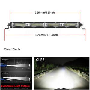 13inch 180W LED Spot Flood Combo 4WD Work Light Bar Offroad UTE Truck ATV Boat